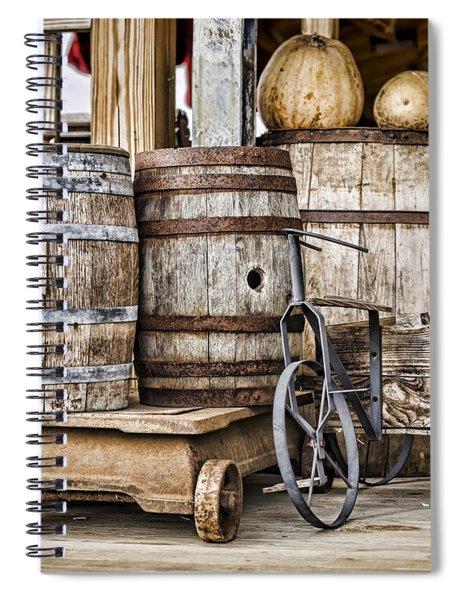 Emptied Barrels Spiral Notebook