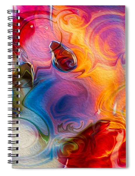 Enchanting Flames Spiral Notebook by Omaste Witkowski