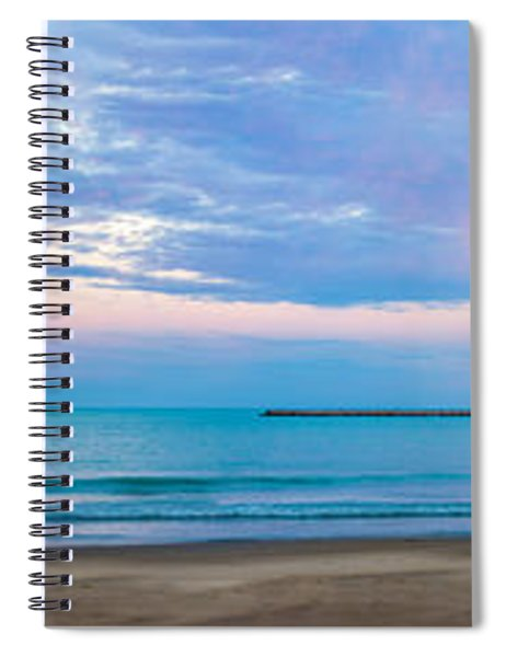 End Of The Blue Hour Spiral Notebook by Steven Santamour