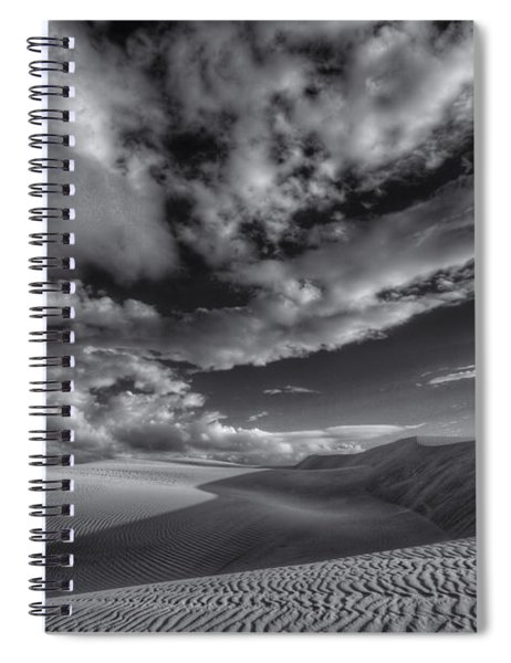Endless Black And White Spiral Notebook