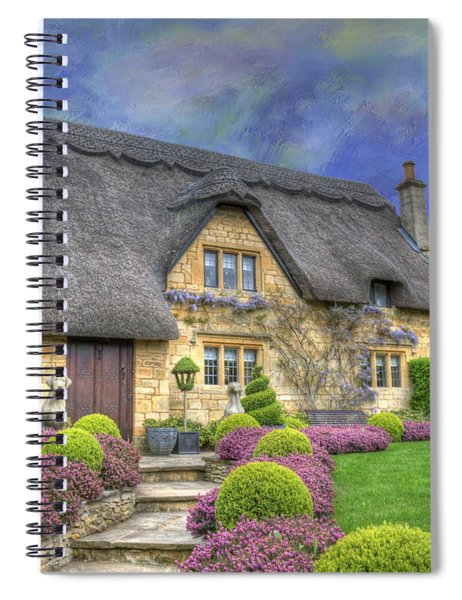 English Country Cottage Spiral Notebook