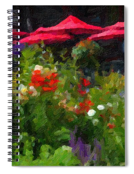 English Country Garden Spiral Notebook
