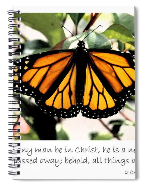 English New Creature In Christ Spiral Notebook