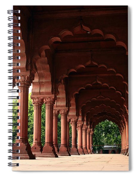 Engrailed Arches, Red Fort, New Delhi Spiral Notebook