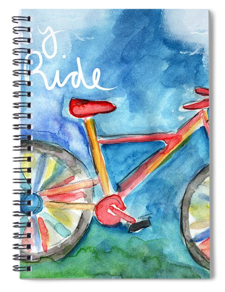 Enjoy The Ride- Colorful Bike Painting Spiral Notebook