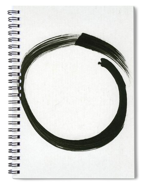Enso #1 - Zen Circle Minimalistic Black And White Spiral Notebook