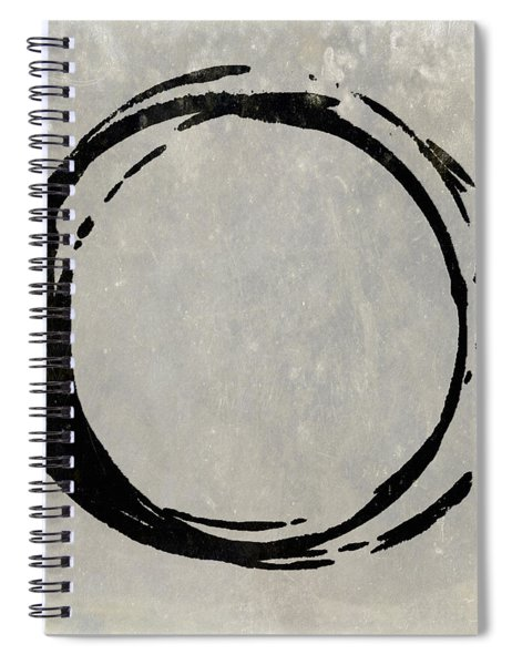 Enso No. 107 Black On Taupe Spiral Notebook