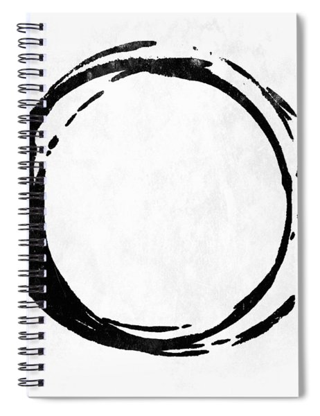 Enso No. 107 Black On White Spiral Notebook