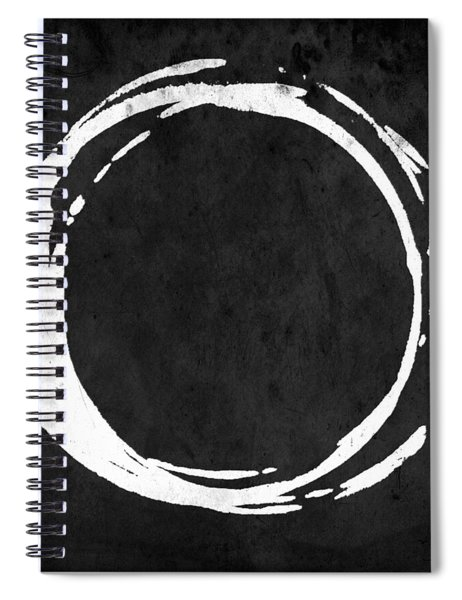 Enso No. 107 White On Black Spiral Notebook