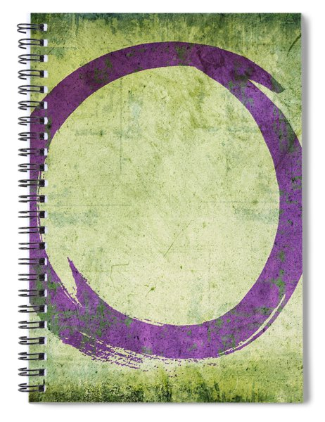 Enso No. 108 Purple On Green Spiral Notebook