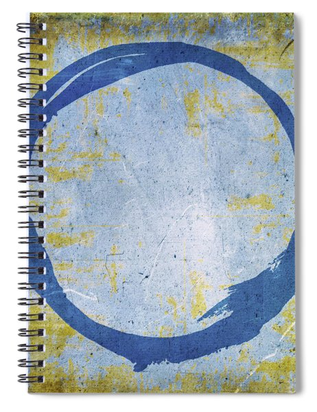 Enso No. 109 Blue On Blue Spiral Notebook