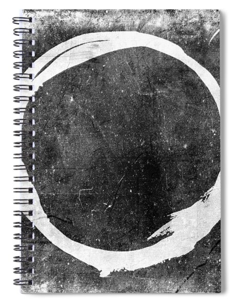 Enso No. 109 White On Black Spiral Notebook