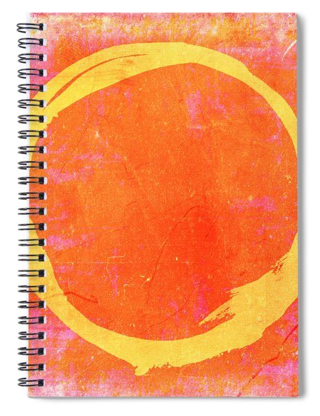 Enso No. 109 Yellow On Pink And Orange Spiral Notebook