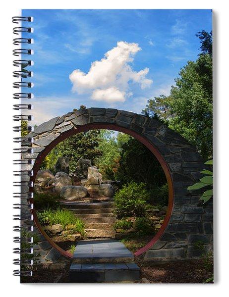 Entering The Garden Gate Spiral Notebook