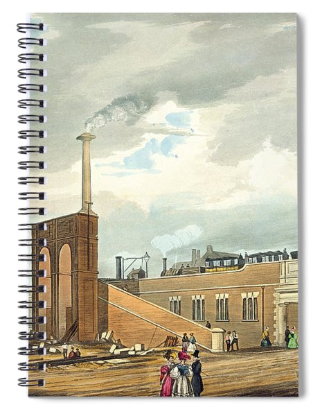 Entrance Into Manchester Across Water Spiral Notebook