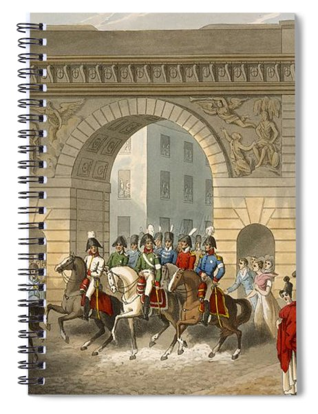 Entrance Of The Allies Into Paris Spiral Notebook