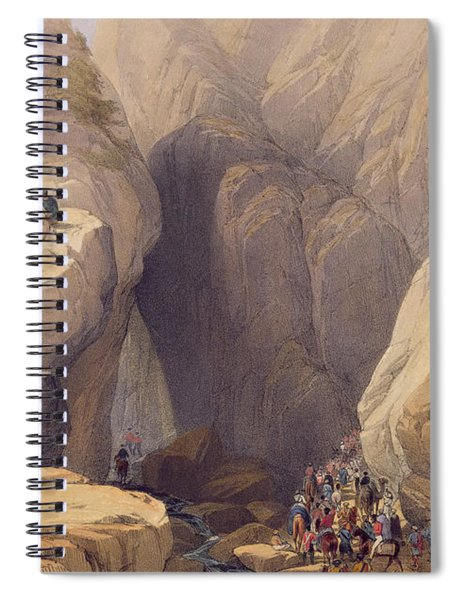 Entrance To The Kojak Pass From Parush Spiral Notebook