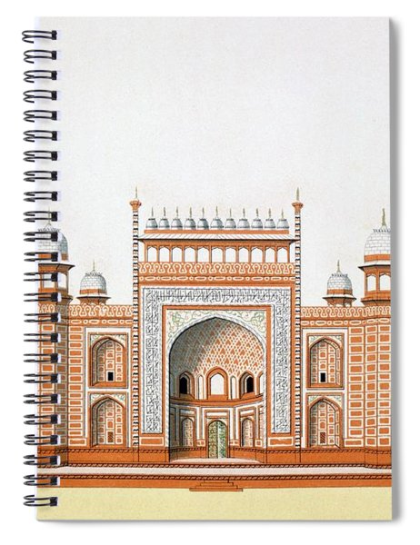 Entrance To The Taj Mahal Spiral Notebook