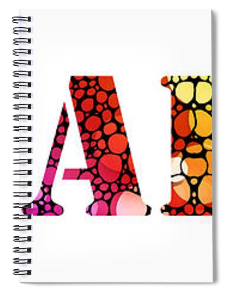 Equality For All 3 - Stone Rock'd Art By Sharon Cummings Spiral Notebook