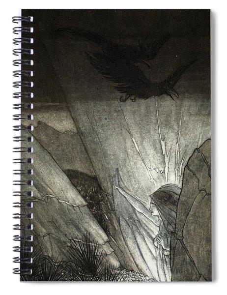 Erda Bids Thee Beware, Illustration Spiral Notebook