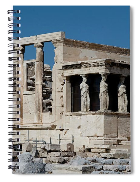 Spiral Notebook featuring the photograph Erechtheion With The Porch Of Maidens by Lorraine Devon Wilke