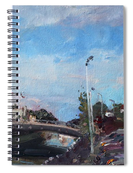 Erie Canal In Lockport Spiral Notebook