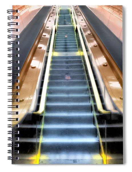 Escalator To Heaven Spiral Notebook