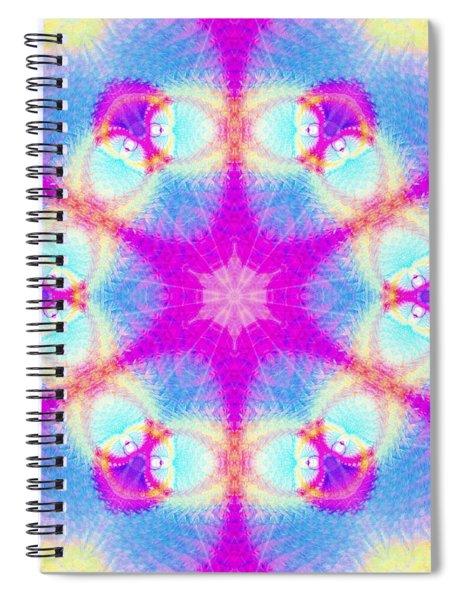 Spiral Notebook featuring the digital art Essence Of Spirit by Derek Gedney