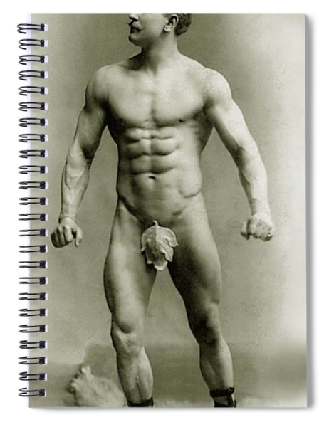 Eugen Sandow In Classical Ancient Greco Roman Pose Spiral Notebook