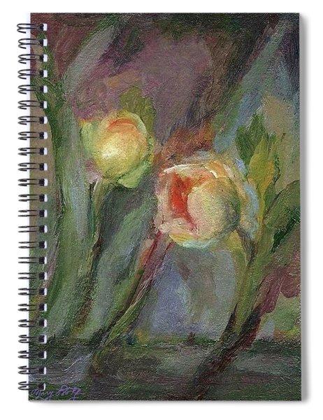 Evening Bloom Spiral Notebook