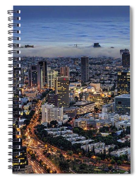 Evening City Lights Spiral Notebook