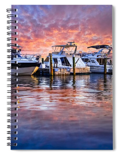 Evening Harbor Spiral Notebook