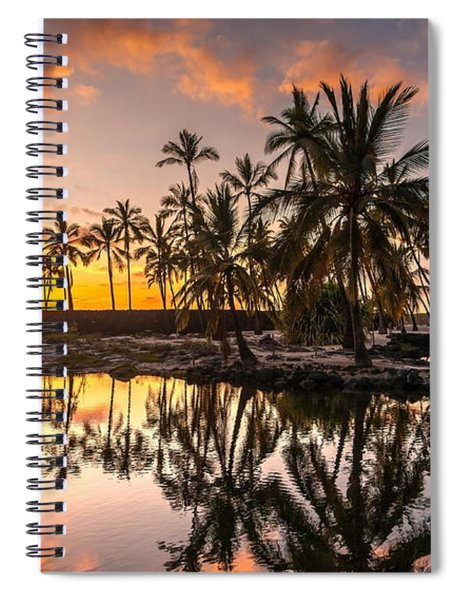 Evening In Paradise Spiral Notebook
