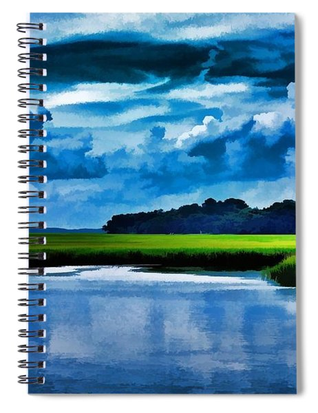 Evening On The Marsh Spiral Notebook