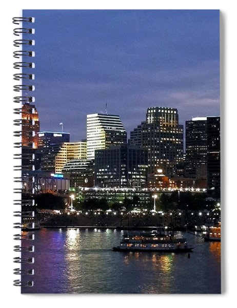 Spiral Notebook featuring the photograph Evening On The River by Mel Steinhauer