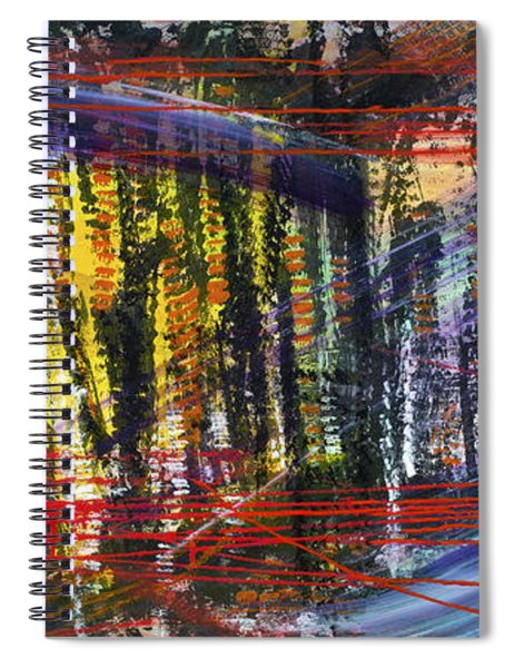 Evening Pond By A Road Spiral Notebook