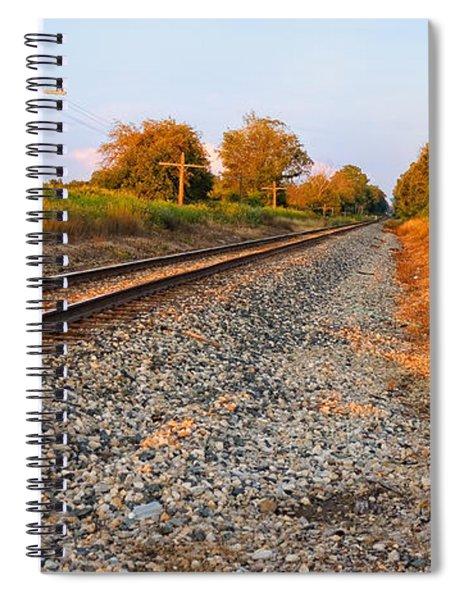 Evening Tracks Spiral Notebook