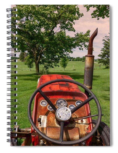 Spiral Notebook featuring the photograph Ever Drive A Tractor by Garvin Hunter