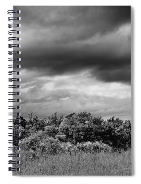 Everglades Storm Bw Spiral Notebook