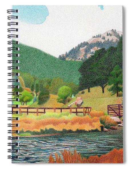 Evergreen Lake Spring Spiral Notebook
