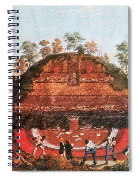 Excavation Of Indian Mound, 1850 Spiral Notebook