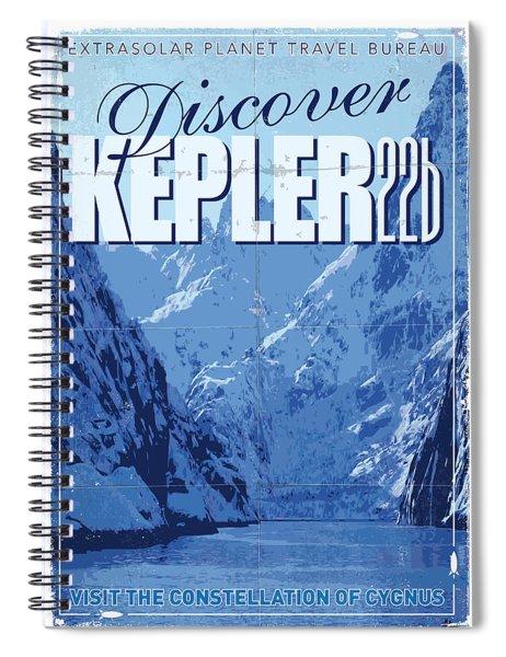 Exoplanet 02 Travel Poster Kepler 22b Spiral Notebook