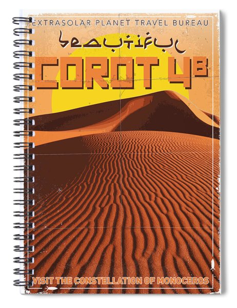 Exoplanet 05 Travel Poster Corot 4 Spiral Notebook