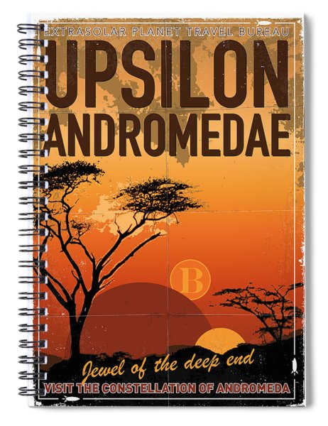 Exoplanet 06 Travel Poster Upsilon Andromedae 4 Spiral Notebook