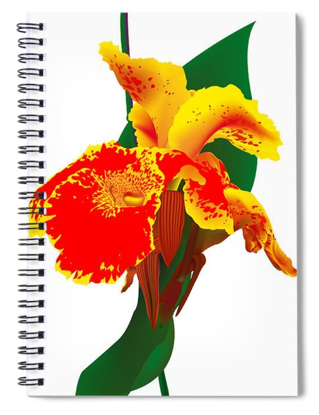 Exotic Flower Spiral Notebook