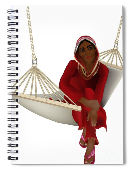 Exotic Girl In The Hammock Spiral Notebook