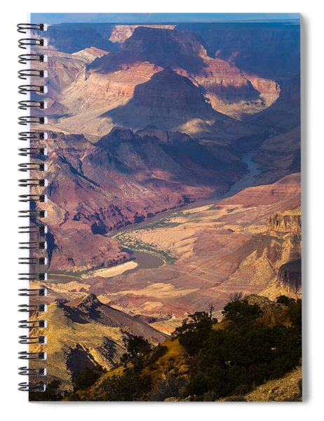 Spiral Notebook featuring the photograph Expanse At Desert View by Ed Gleichman