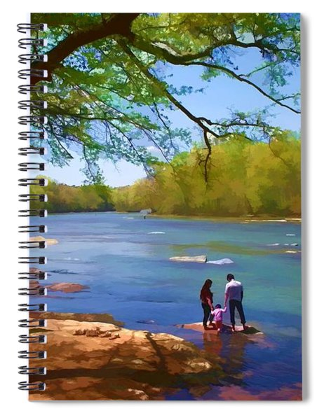 Exploring The River Spiral Notebook