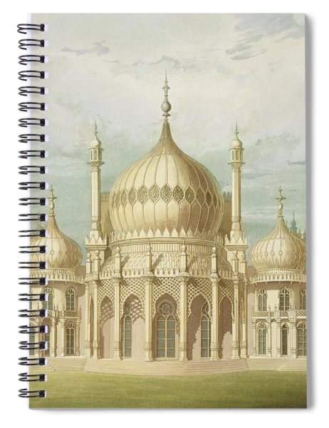 Exterior Of The Saloon From Views Of The Royal Pavilion Spiral Notebook