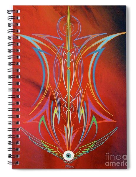 Eye Flying Spiral Notebook